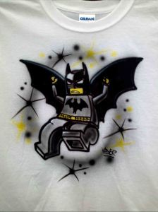Custom AIrbrushed Batman Lego T shirt