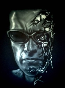 Airbrushed Portrait of Arnold Schwarzenegger T shirt