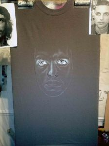 Step One Benji as Che Guevara Custom Airbrushed T shirt - Outlines and Features