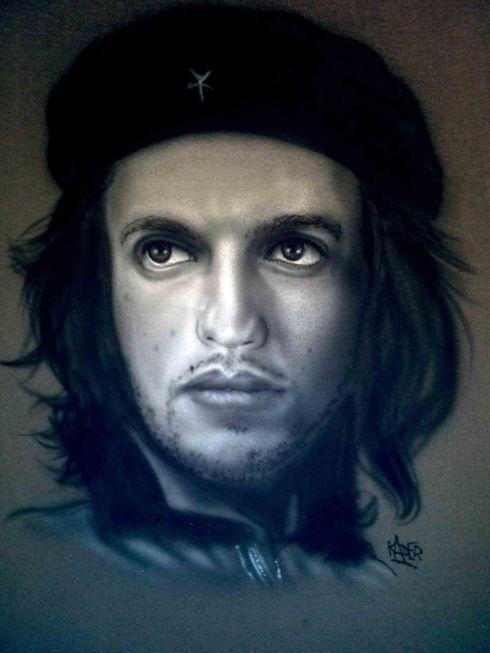 Benji as Guerrillero Heroico Che Guevara Custom Airbrushed T shirt