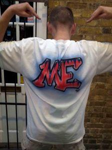 Nicks Custom Airbrushed Company Logo Forks 4U Tshirt Back
