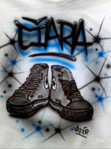 Custom Airbrushed Converse All Stars Sneakers T shirt