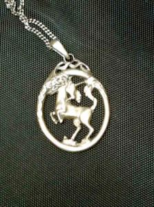 Pegasus Unicorn Silver Medallion