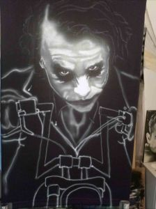 Airbrushed Joker on Harley Tshirt Third Step:Adding Bike Features