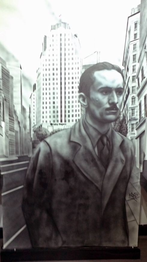 Airbrushed Mural Portrait of Robert De Niro in The Godfather