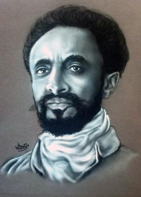 Custom Airbrushed Portrait T shirt Haile Selassie I