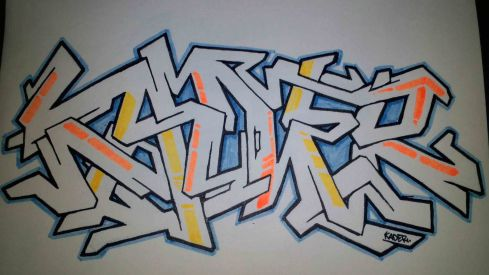 Graffiti Wildstyle by Kader